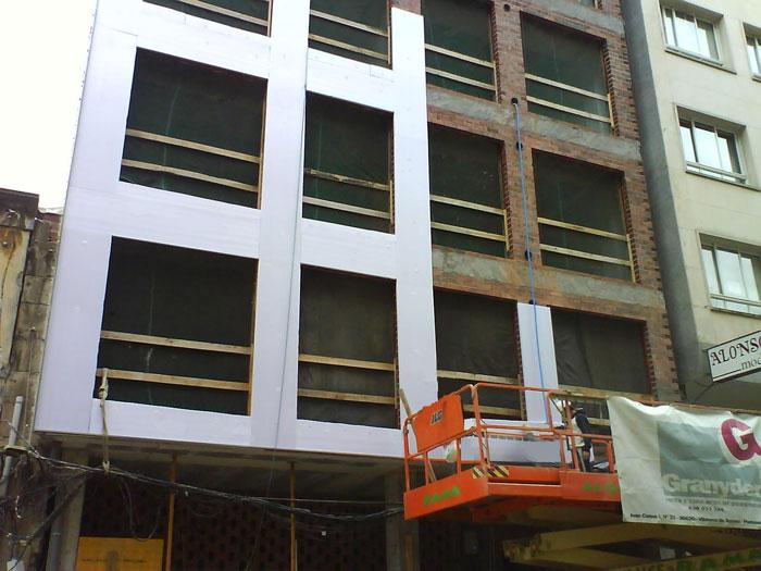 colocación fachada ventilada