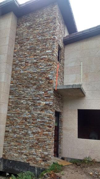 Chalet en taco santiago con siller a de granito moreno for Piedra de silleria