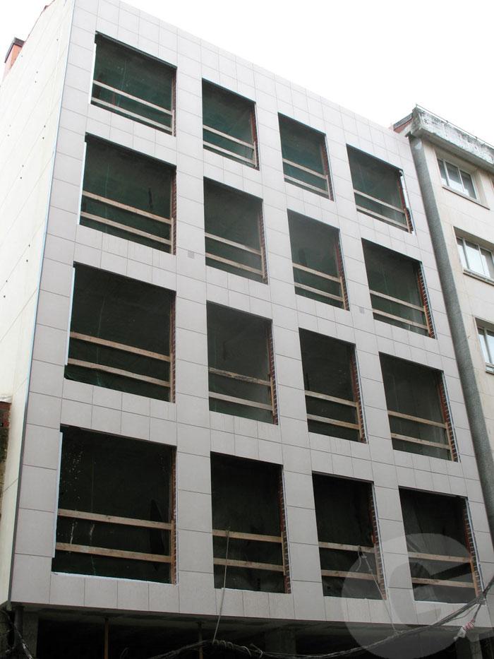 instalación de fachada ventilada